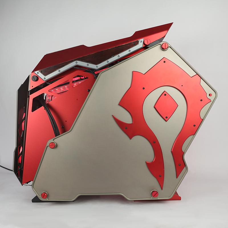骨伽征服者-玩家DIY酷炫魔兽世界主题机箱