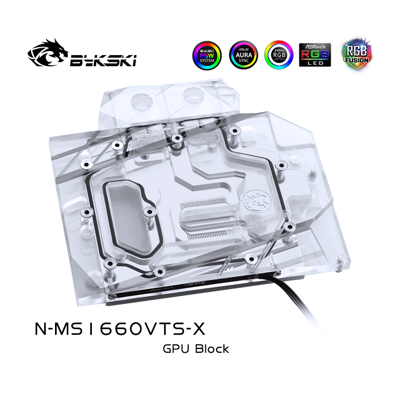 Bykski N-MS1660VTS-X 显卡水冷头 微星GTX1660万图师VENTUS XS C