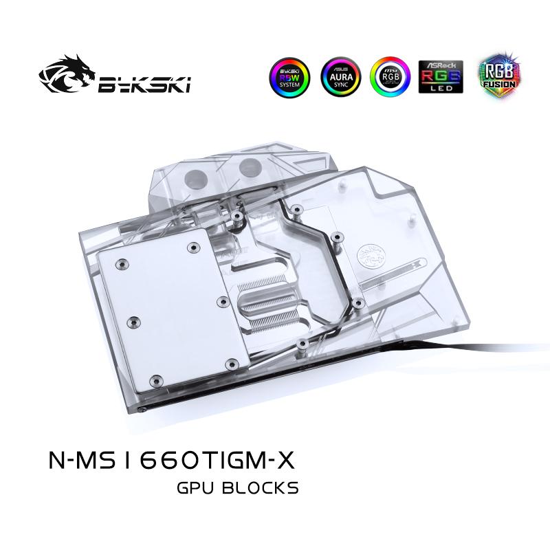 Bykski N-MS1660TIGM-X 显卡水冷头 微星GTX1660TI Gaming X 魔龙