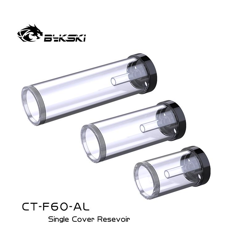 Bykski CT-F60-AL 4孔单盖圆柱水箱 通透圆体多兼容水泵水箱管体