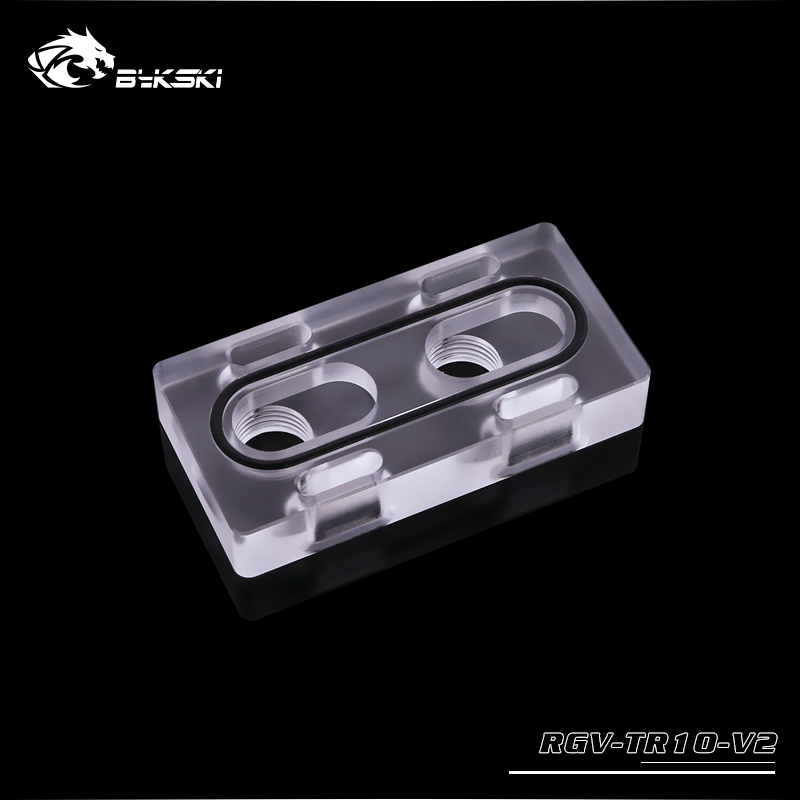 Bykski RGV-TR10-V2 水路板调节模块 亚克力透明材质