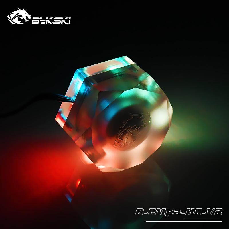 Bykski B-FMpa-HC-V2 精品 六边形透明亚克力流速计 水流计